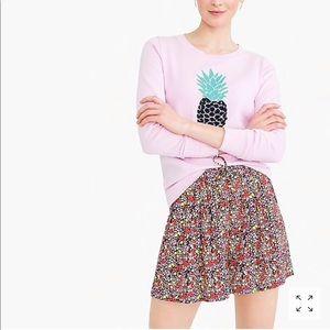 Pretty floral high waist mini skirt